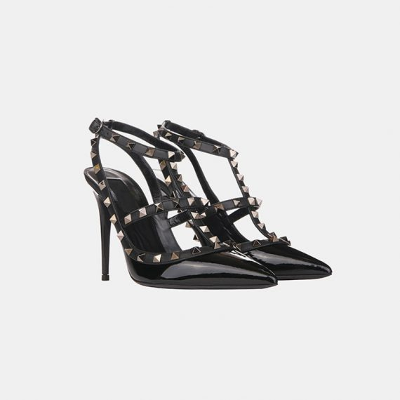 Stumped Heel Stiletto - Black